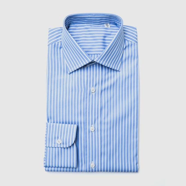 Popeline double-twisted cotton shirt