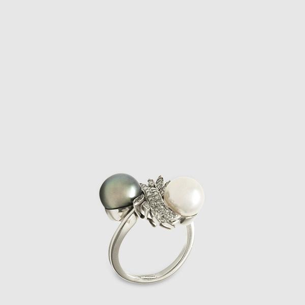 Anello perle merzaghi
