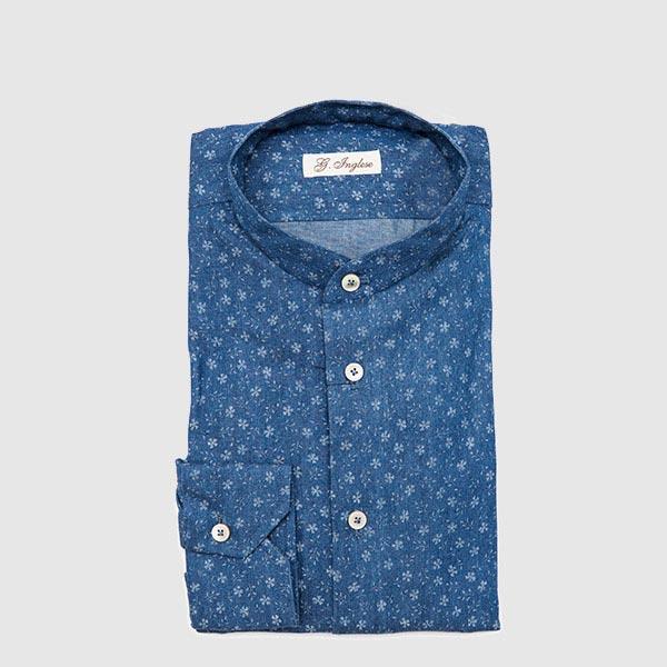 Camicia in Jeans Stampato