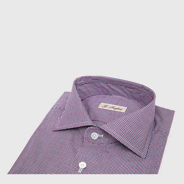 Fine check multicolor cotton