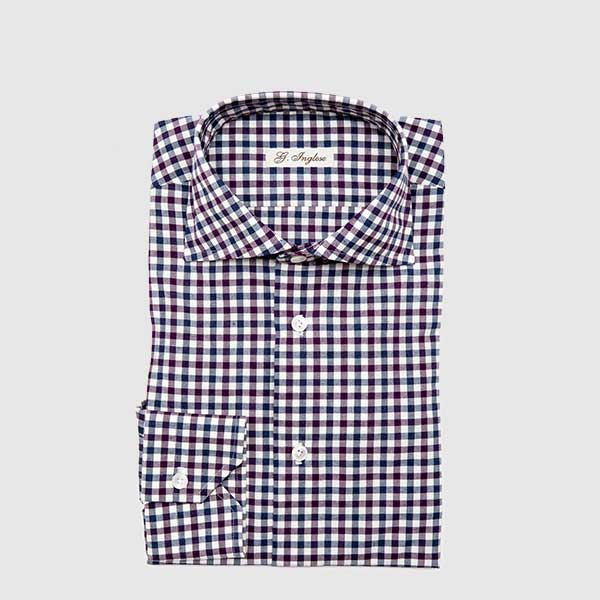 Camicia in Microvichy Multicolor