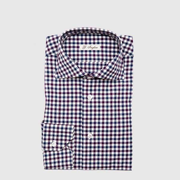 Fine cotton multicolor microvichy shirt