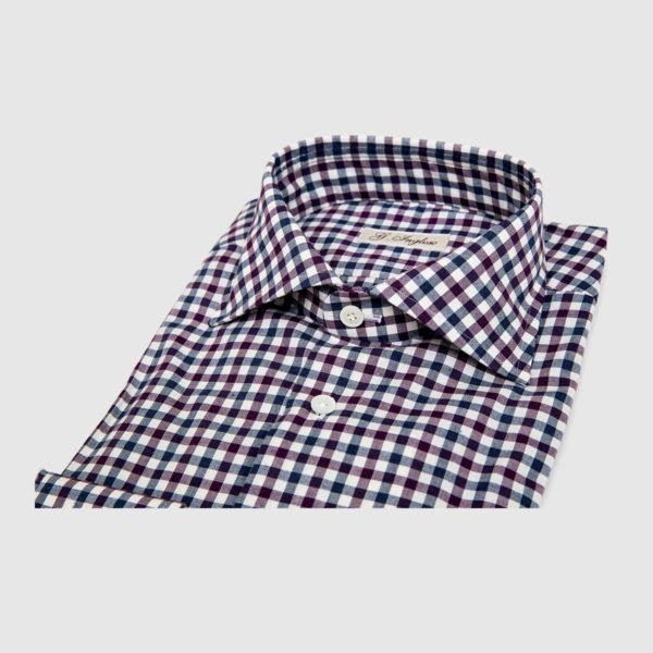 Camicia in Microvichy Multicolor