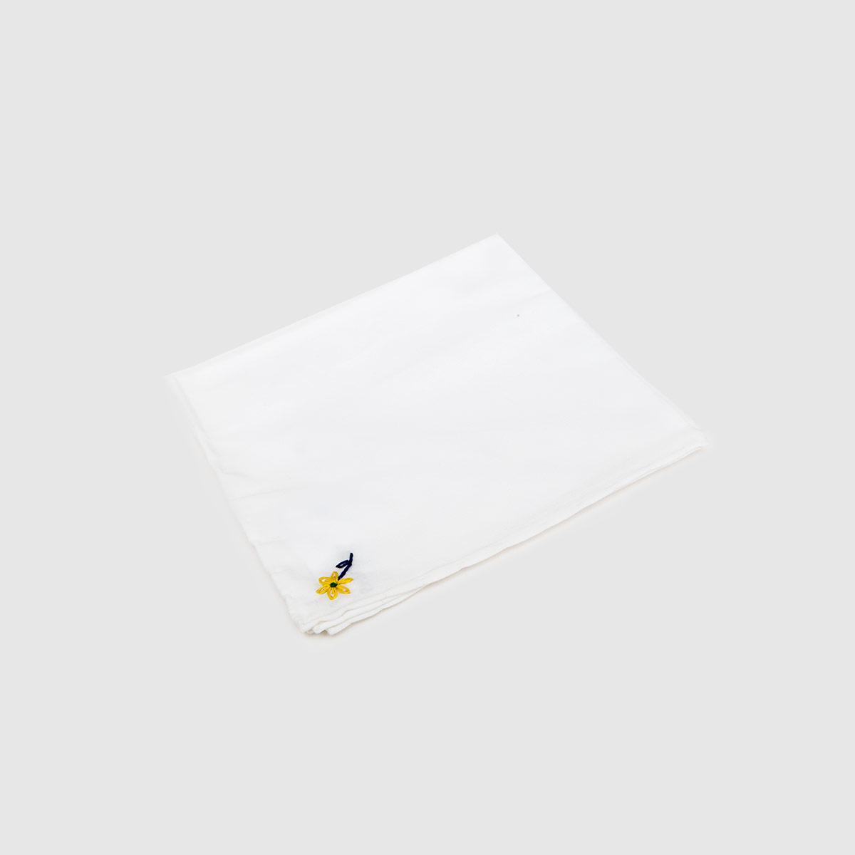 Pochette in Popeline bianco ricamo Fiorellino