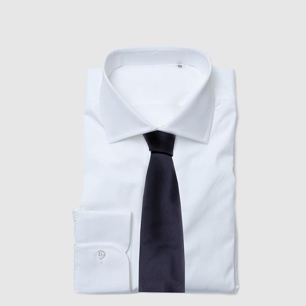 Cravatta dieci pieghe in Twill di Seta Blue