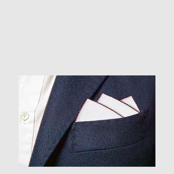 Pure linen pocket square