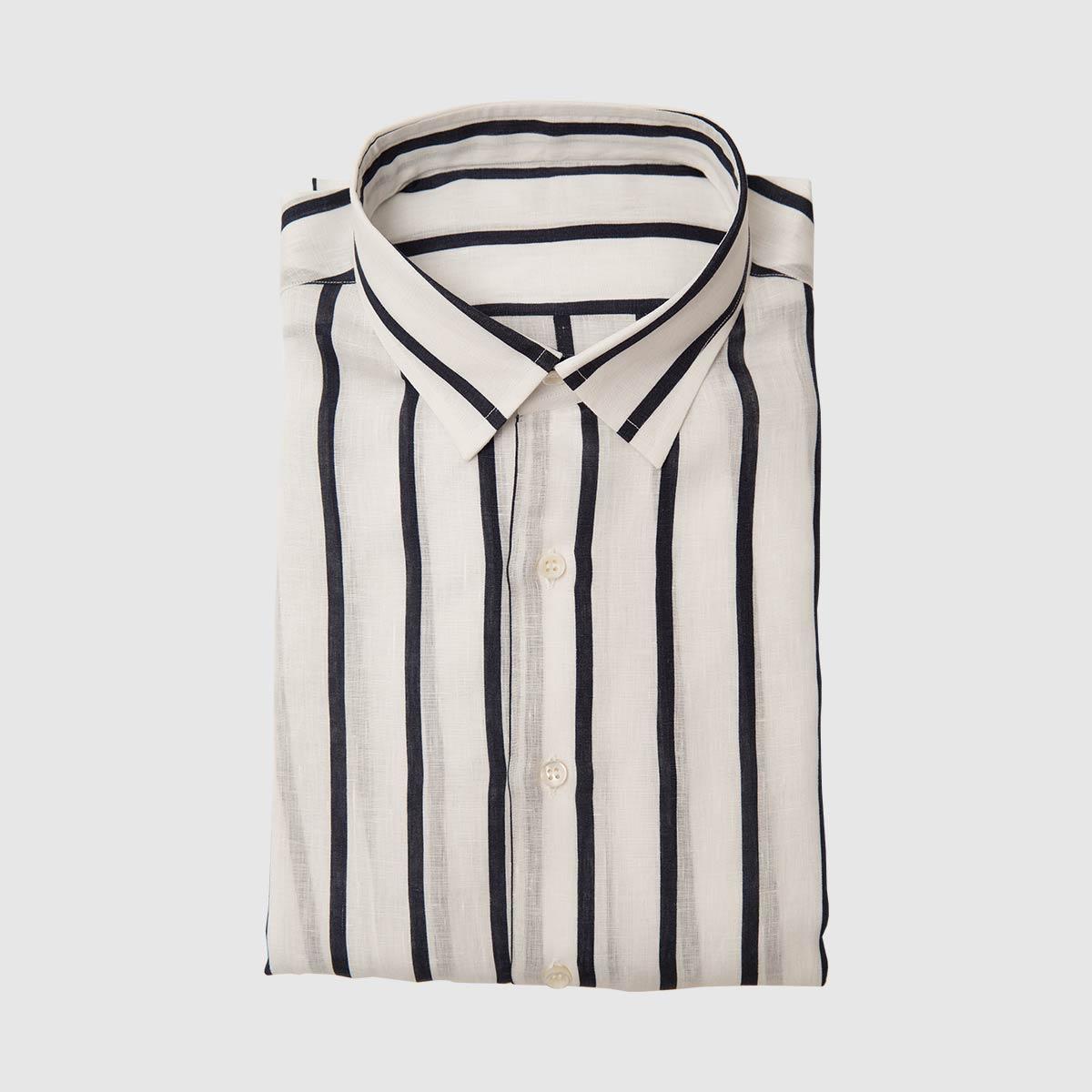 Blu Navy shirt pure Linen