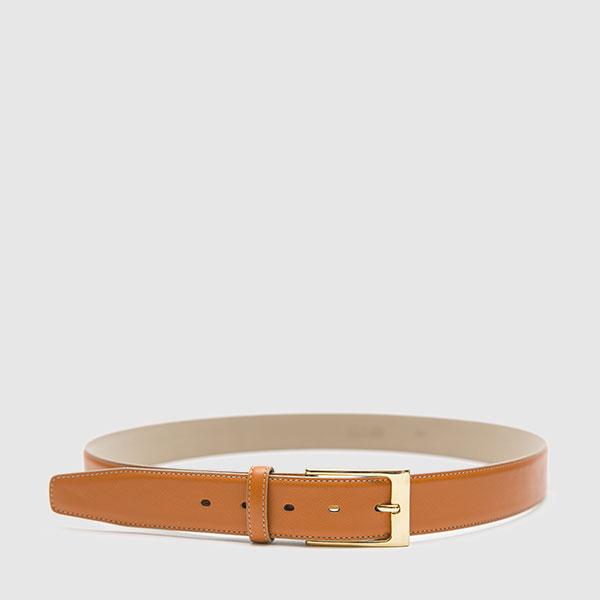 Saffiano calfskin belt
