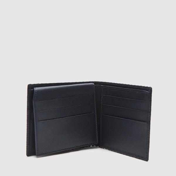 Woven calf print wallet