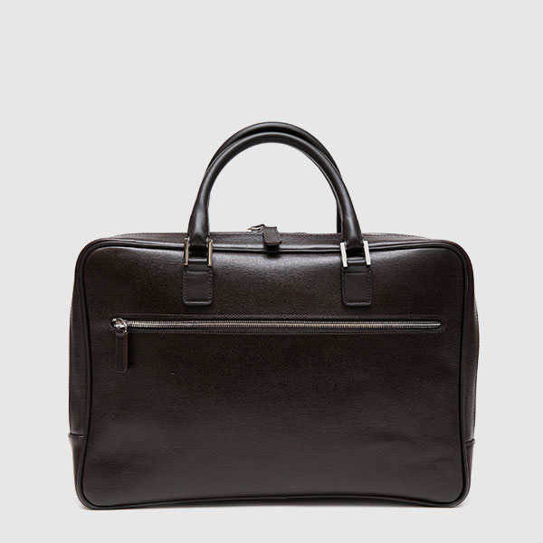 Black Calf leather briefcase