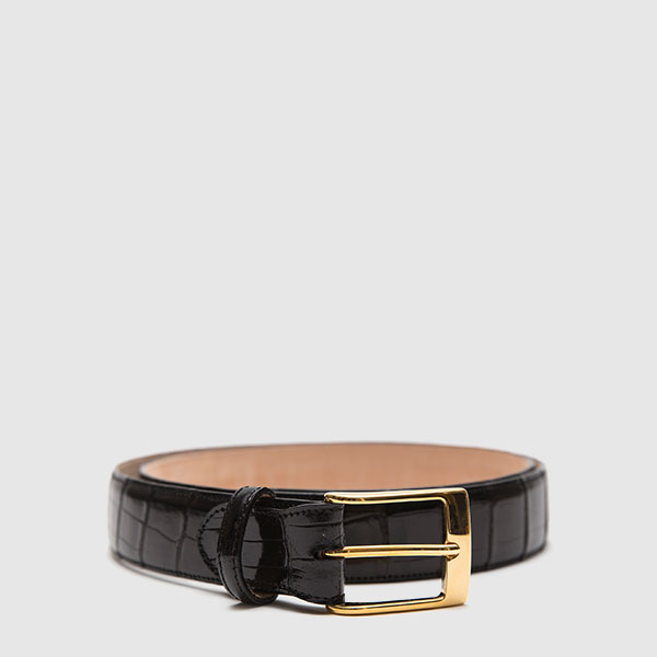 Genuine crocodile belt