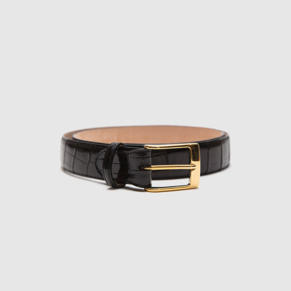 Genuine crocodile belt