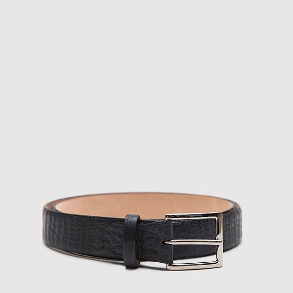 Genuine crocodile men's belt