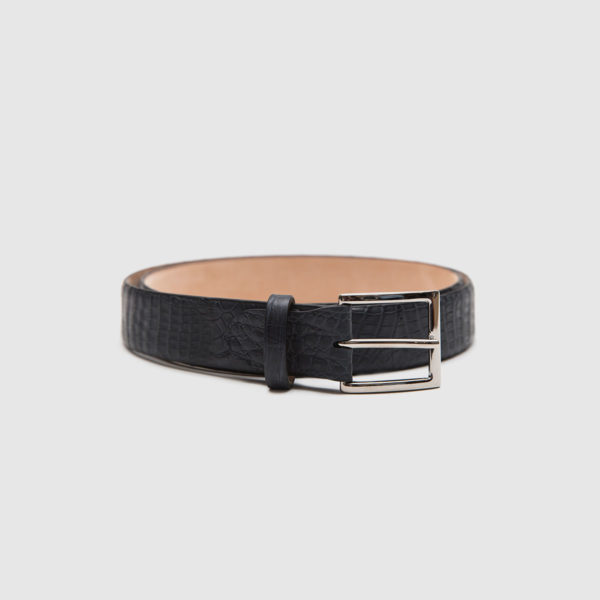 Genuine crocodile men's belt