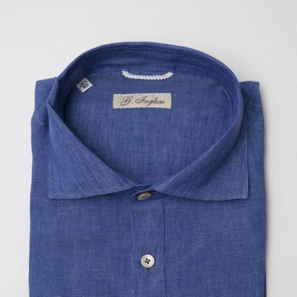 Polo-camicia in lino