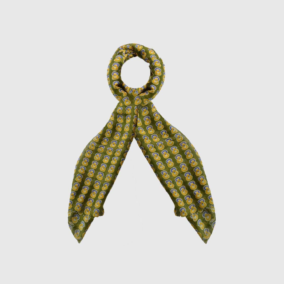 Modal Scarf green and geometric patterns