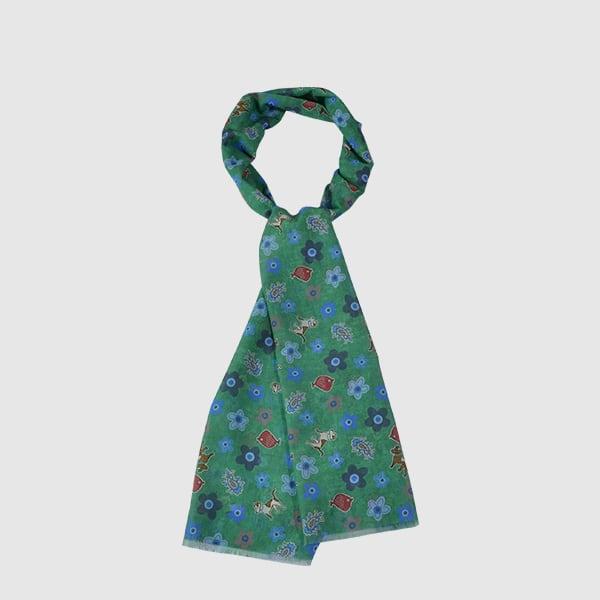 scarf man silk cotton