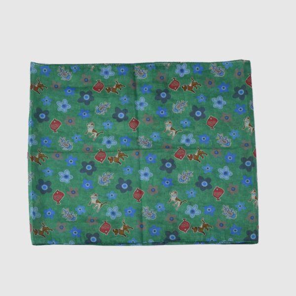 Sciarpa seta cotone fantasia fiori