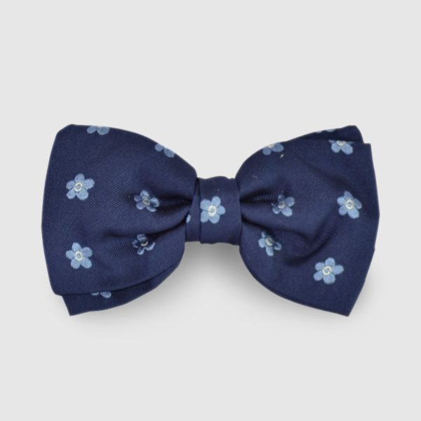 Papillon in Seta papillon Blu