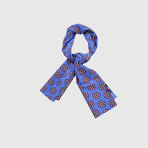 Foulard man geometrical flowers