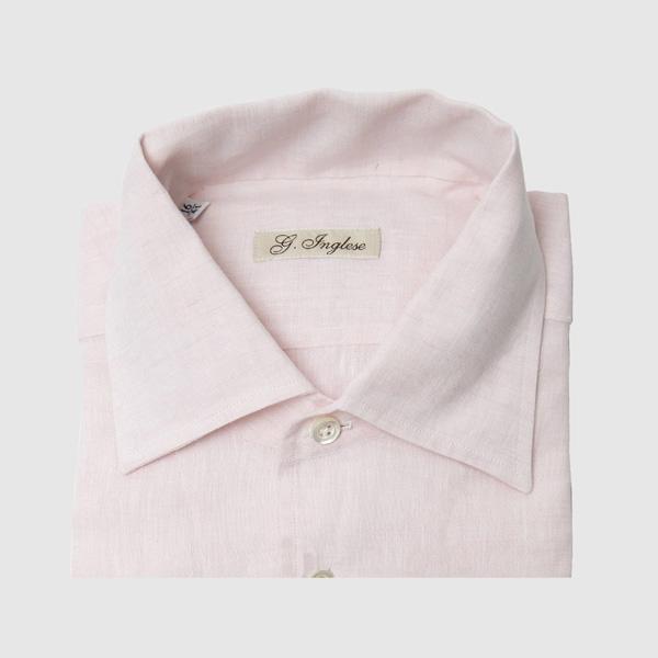 Camicia in lino rosa