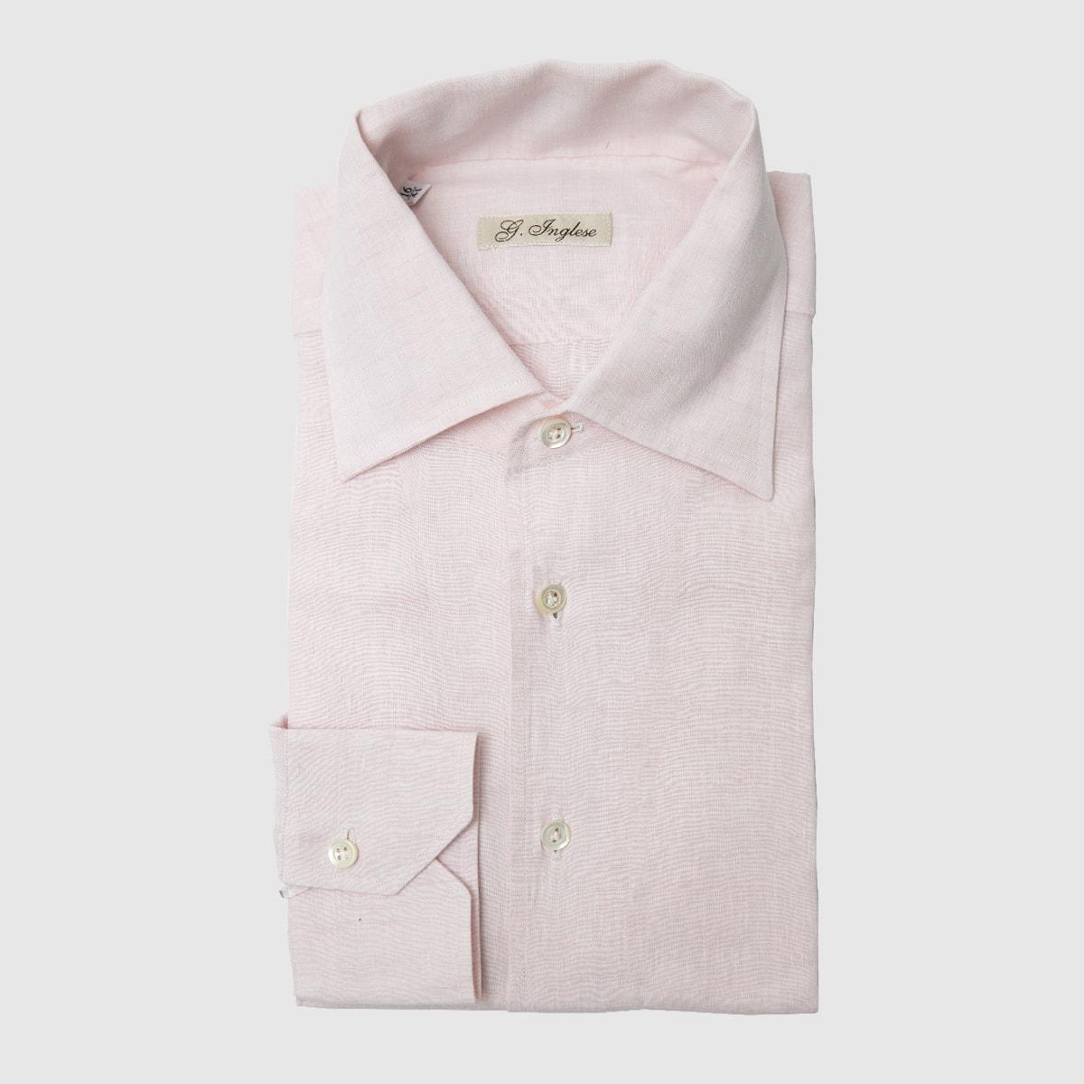 Linen pink shirt