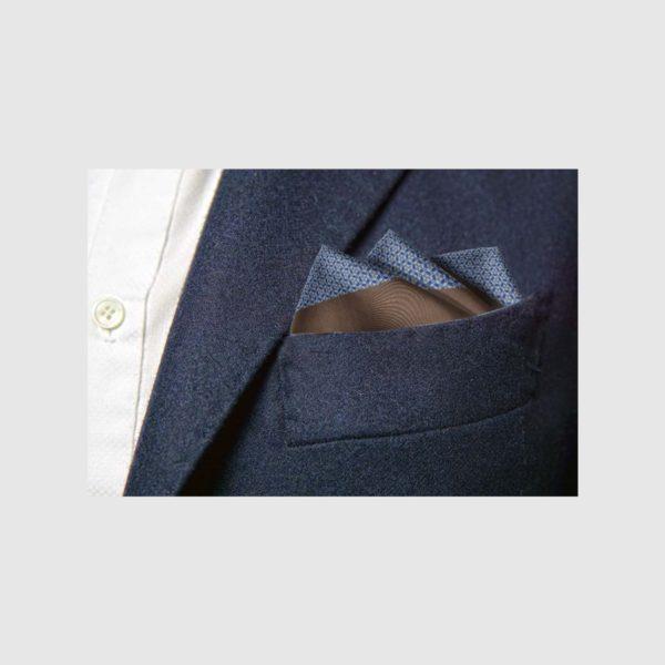 Pochette 100% seta micro-fantasia optical