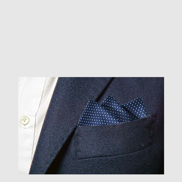 White dot silk pocket square