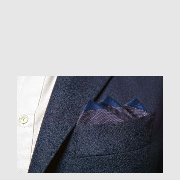 100% Silk pocket square with fantasy on the edges