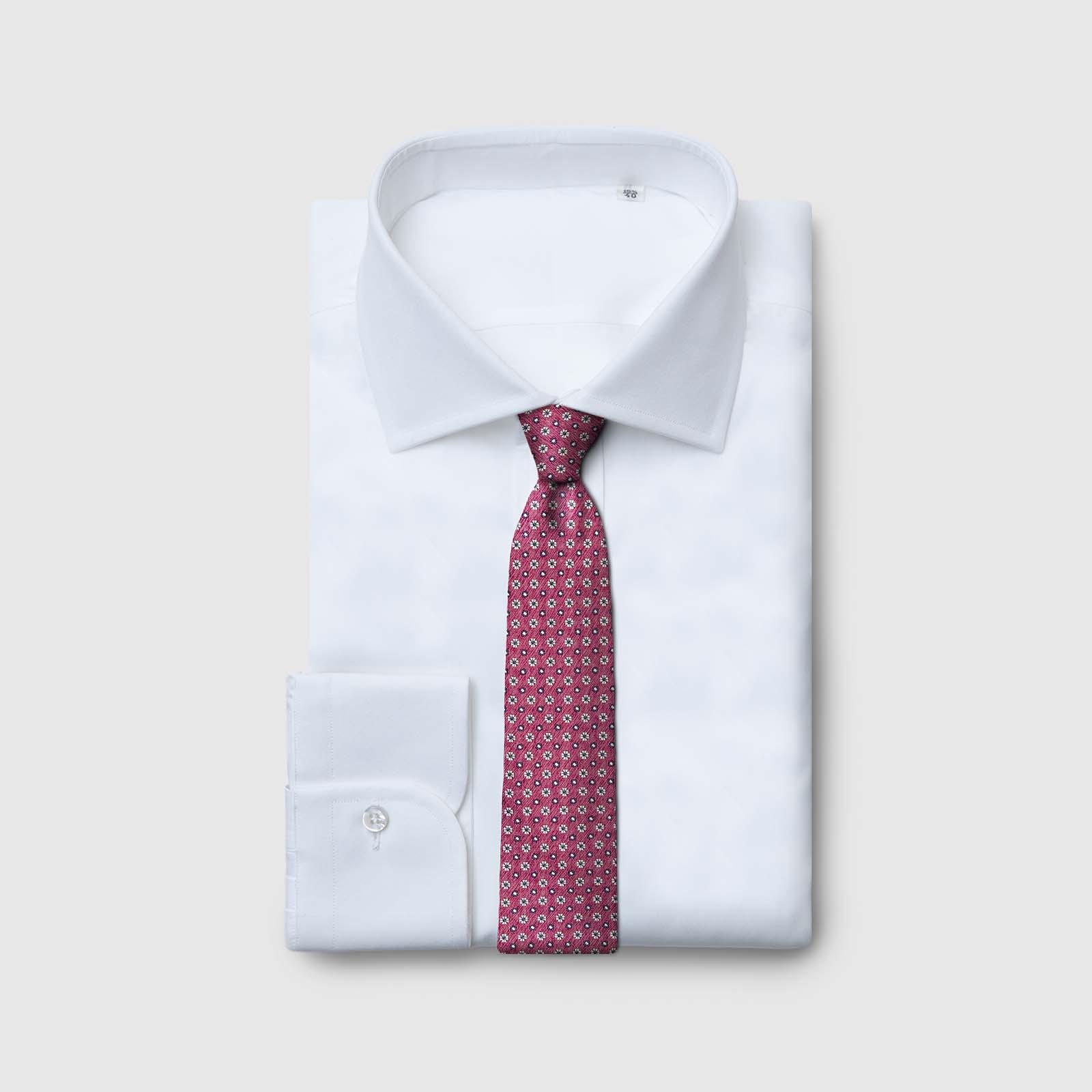 5-fold burgundy color tie