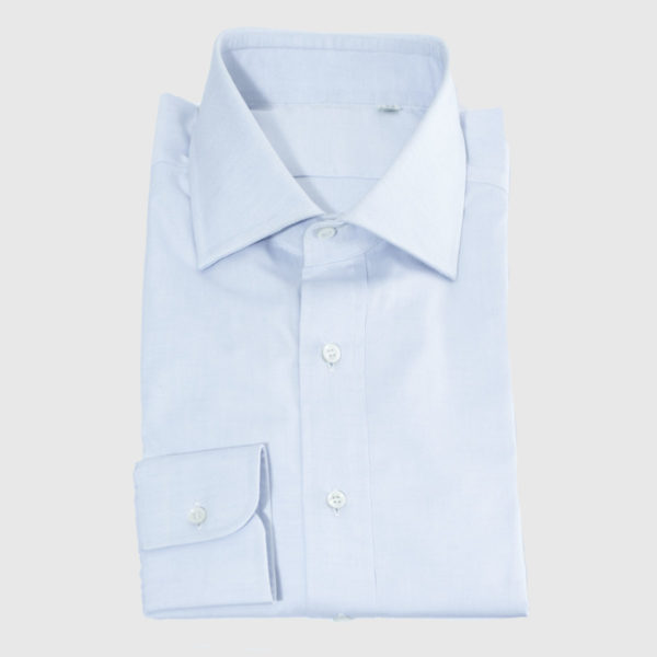 Camicia Azzurra Pin point