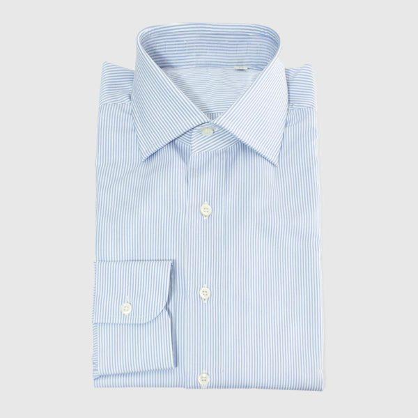 Camicia Popeline rigato bianco azzurro