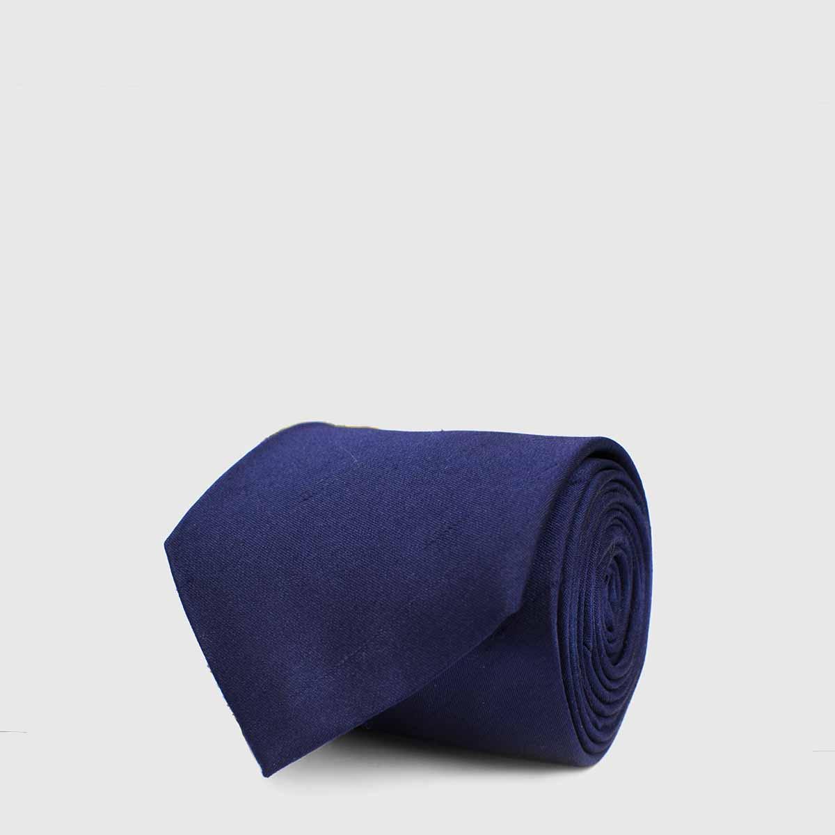 5-fold Tie dark blue