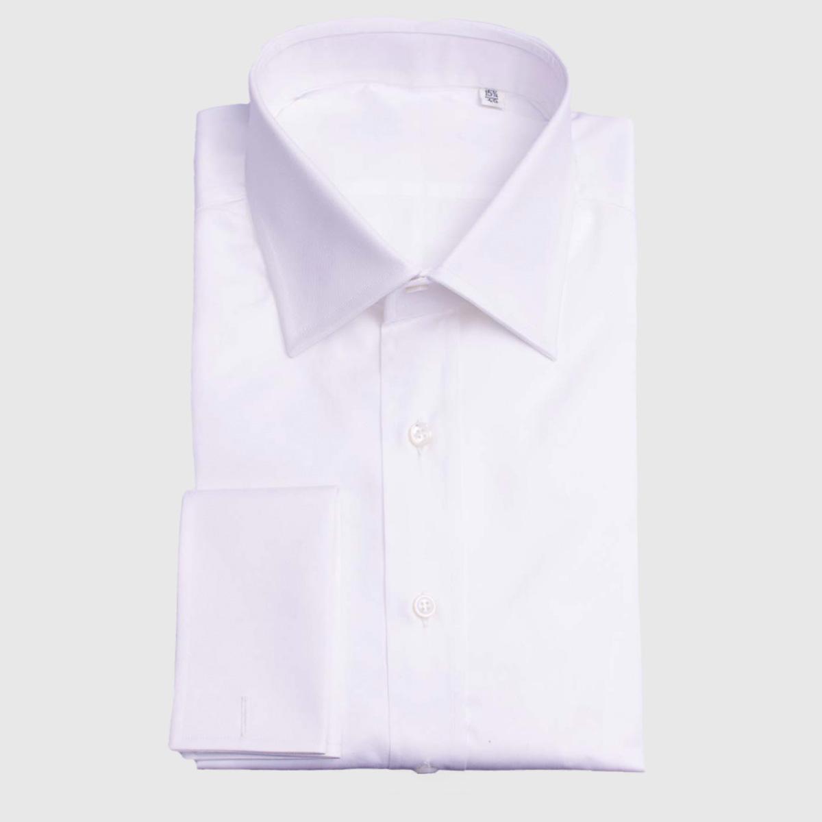 Camicia Twill con Polso Doppio