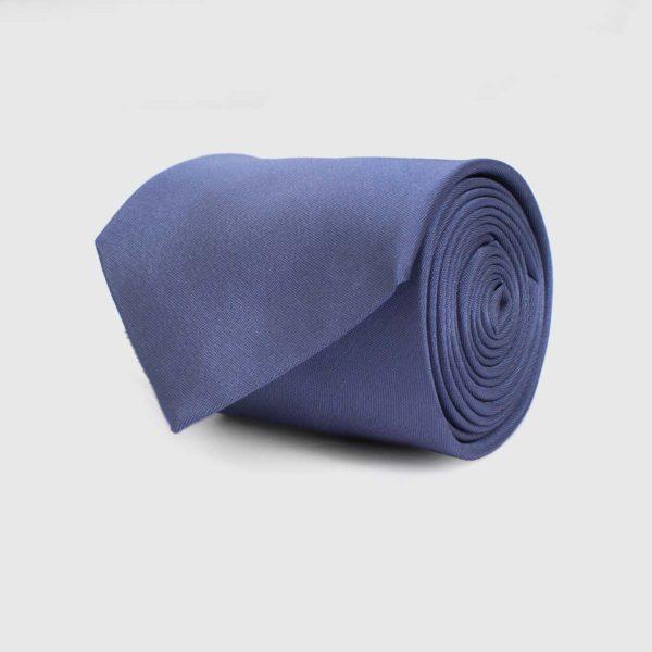 Cravatta 5 pieghe blu