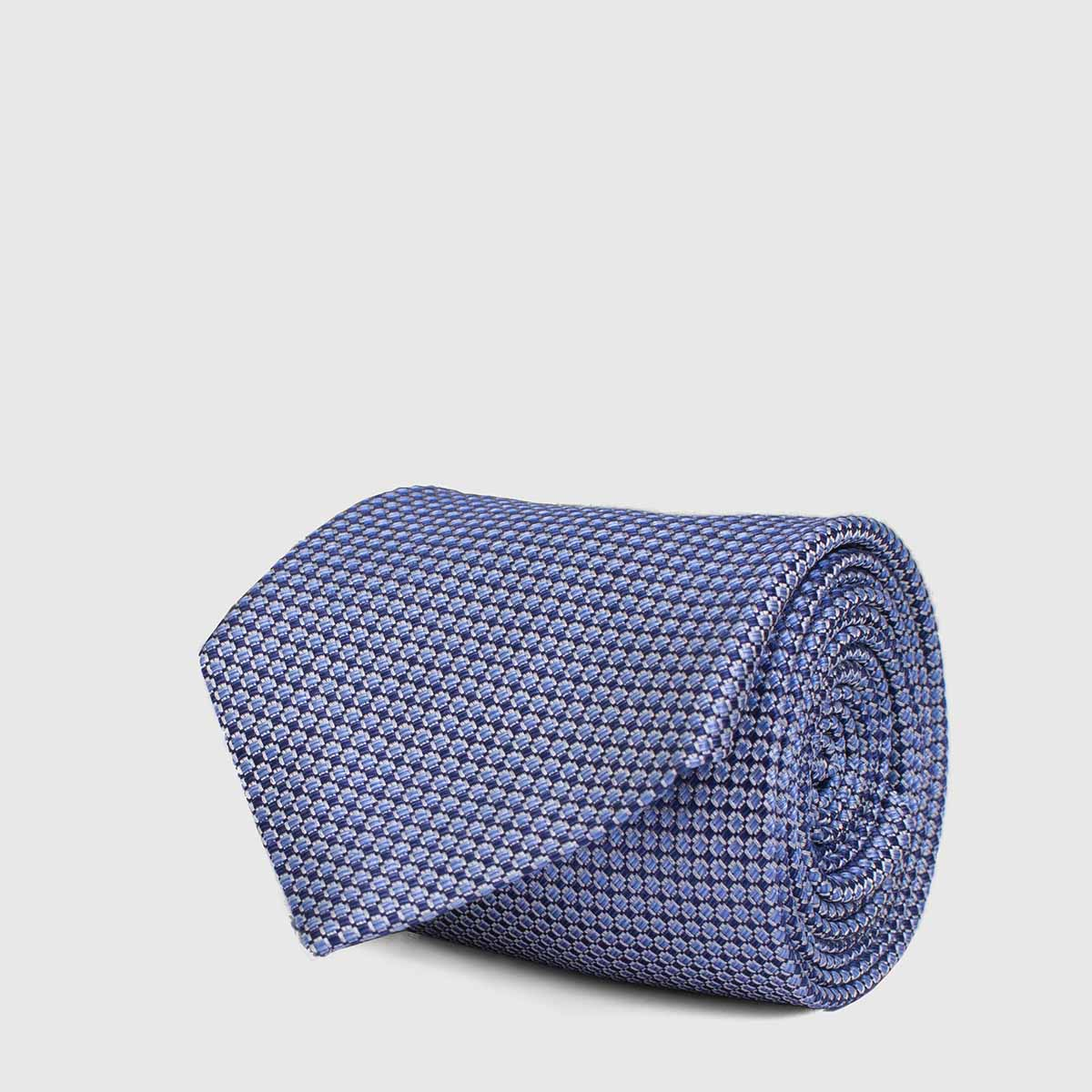 5-Folds tie in a Light Blue and White color