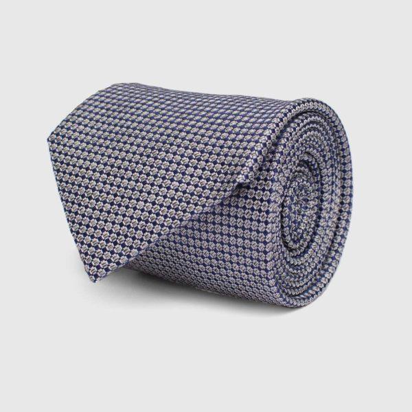 Cravatta 5 pieghe fondo Blu