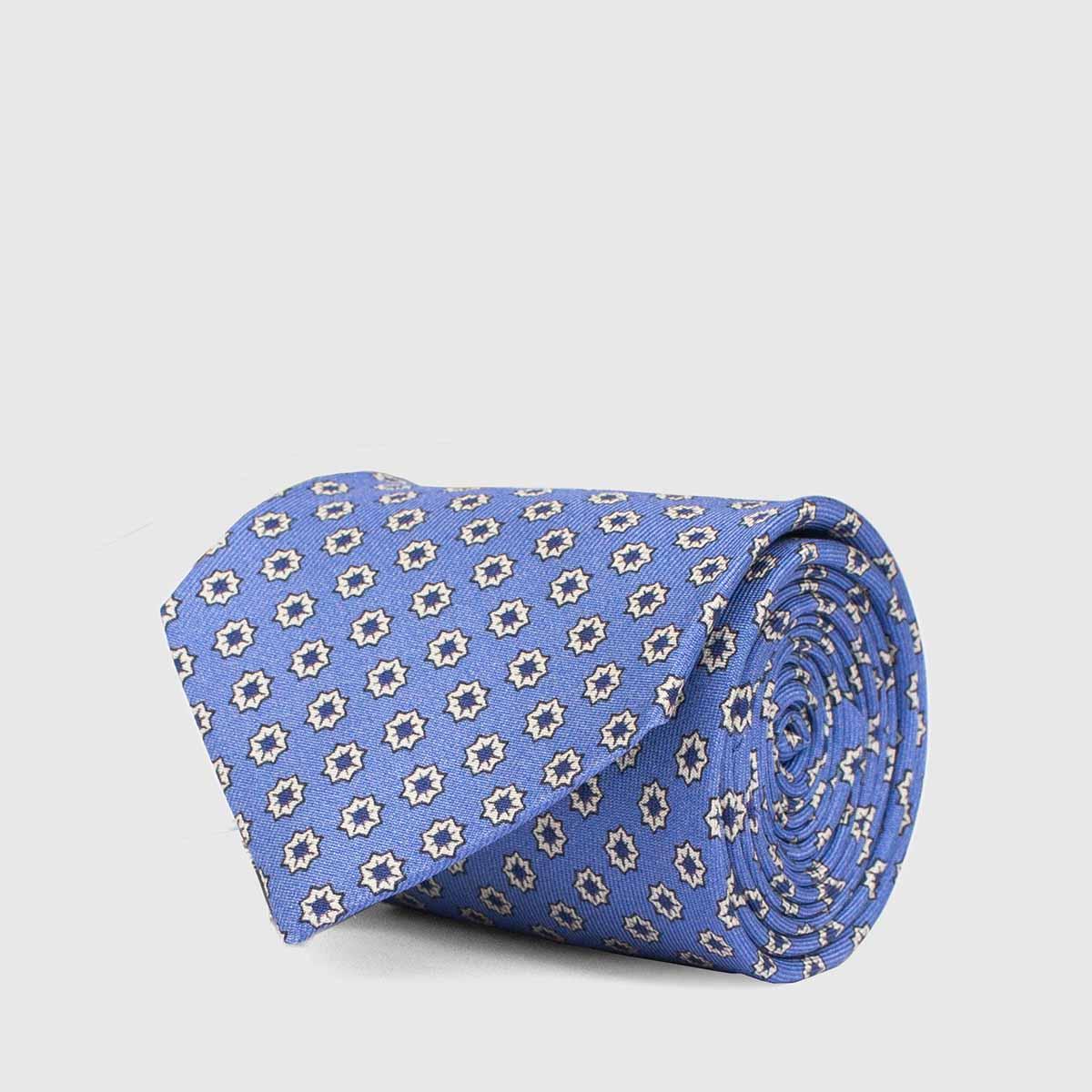 Cerulean geometric floreal 5-Fold Tie