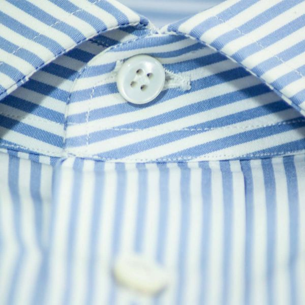Camicia riga inglese bianco e azzurro