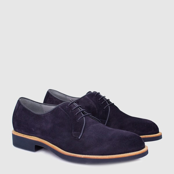 Derby leather shoe