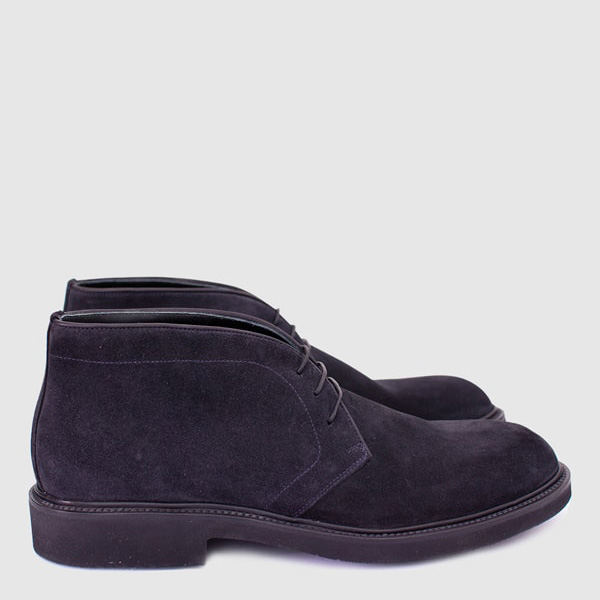 Blue suede leather Ankle Shoe