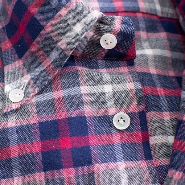 Cotton Gauze Bottom-down Shirt
