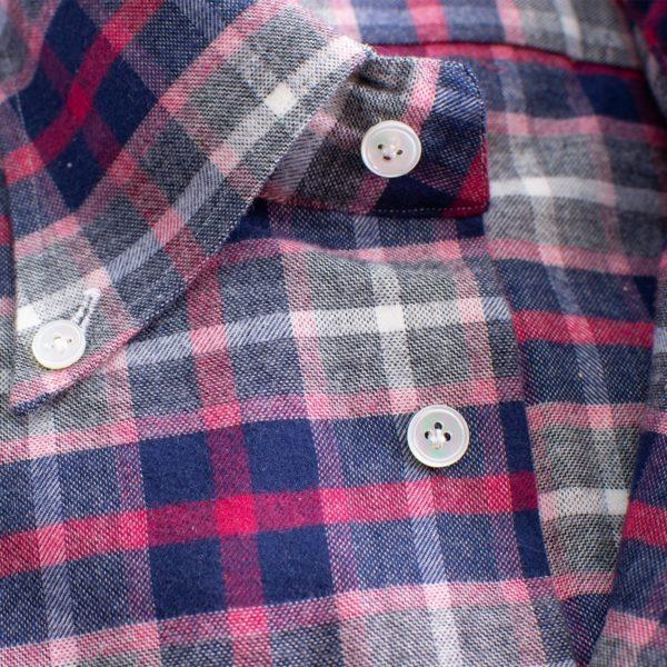 Camicia cotone garzato bottom down