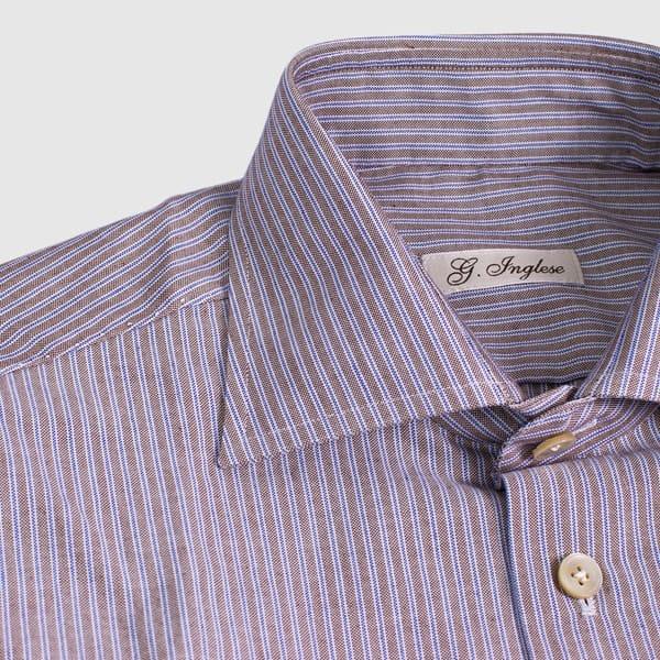 Camicia Oxford rigato