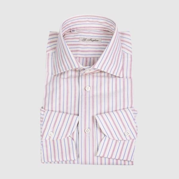 Camicia Rigata Cotone Chambray