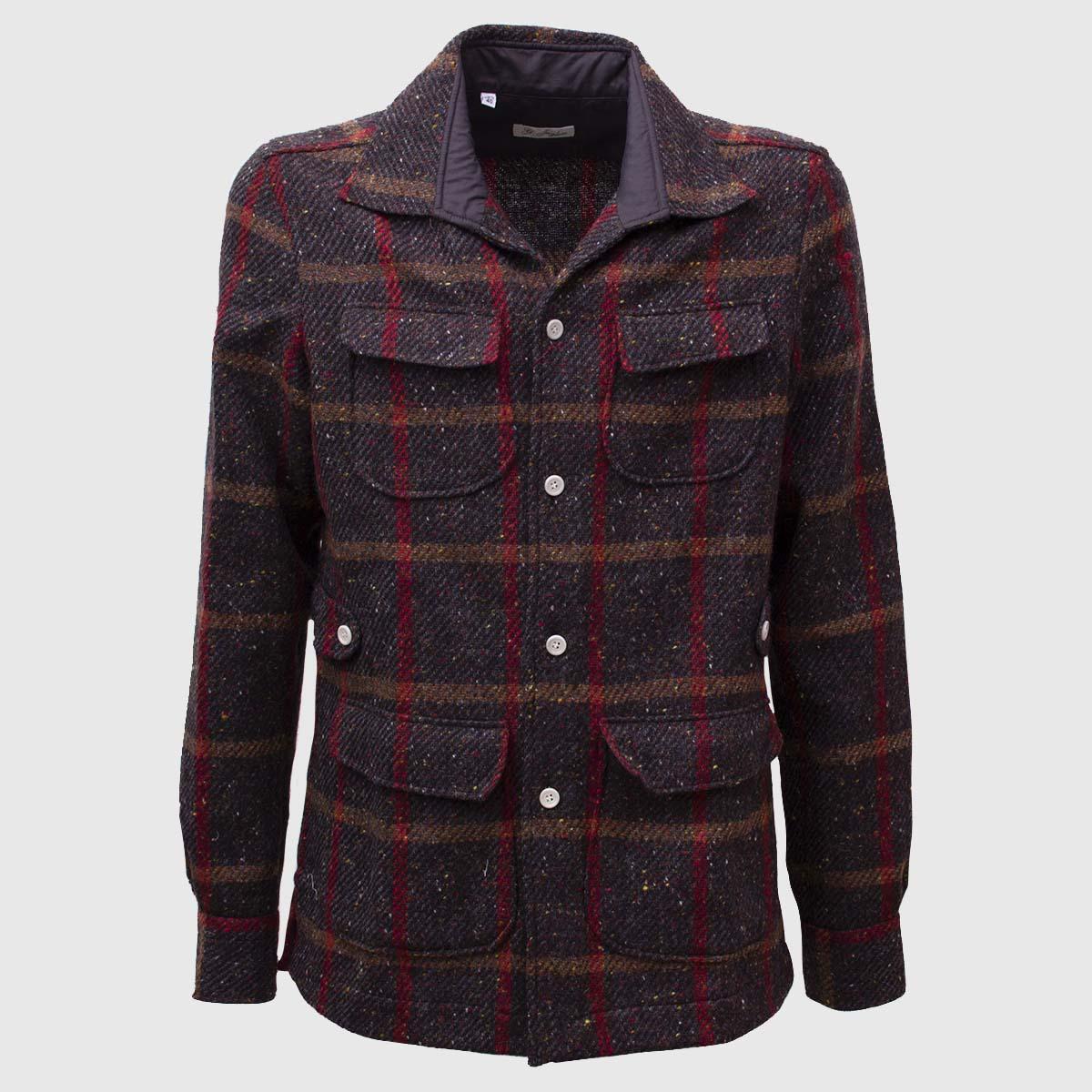 100% Wool Sahariana Irish Donegal