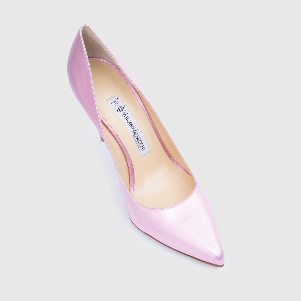 Pink Lamè Décolleté shoe