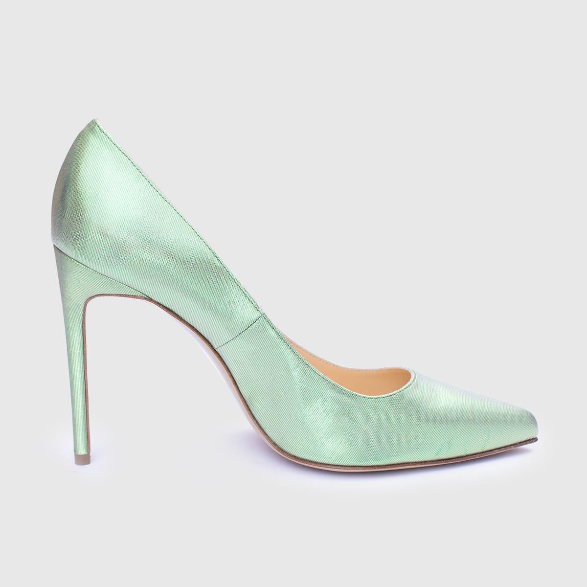 Green Lamè Décolleté shoe