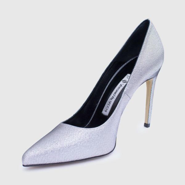 Silver Lamè Décolleté shoe