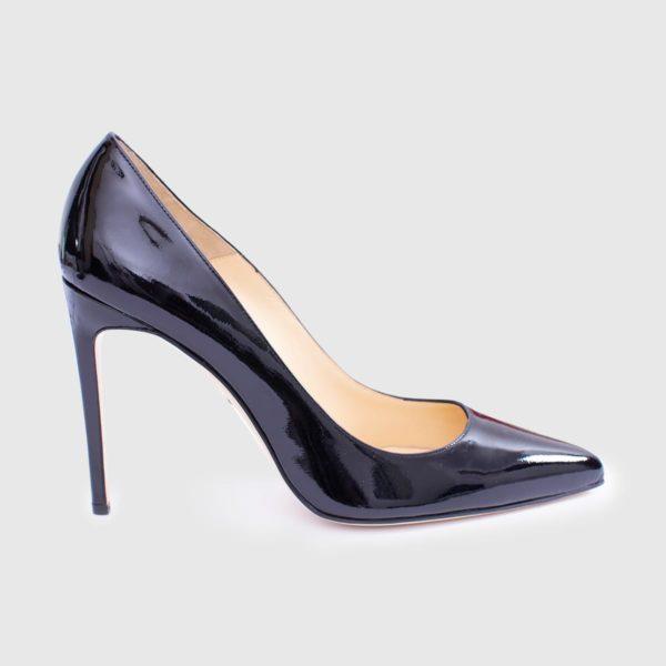 Black patent calfskin 100 Décolleté shoe